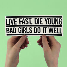 "M.I.A. Lyric sticker! ""Bad girls do it well"" jay z, timbaland, matangi kanye mia"