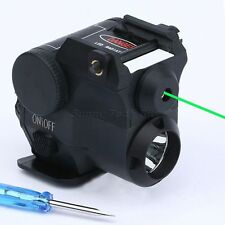 Combo Green Laser Sight Scope LED Flashlight w Picatinny Weaver 21mm Rail Mount