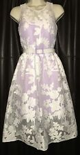 New Belle Badgley Mischka White&Lavender Lace Dress $199
