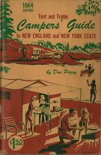 1964 Tent & Trailor Campers Guide to New England & New York State - NICE