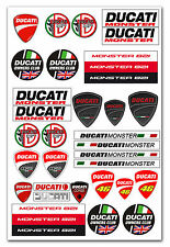 DUCATI Corse Monster Motorcycle Tuning Car Set Decal Stickers Vinyl Motorsport