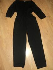 I.I. & E - VINTAGE JUMP SUIT / PLAYSUIT - BLACK - SIZE 12 - ELASTICATED WAIST
