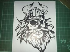 Bearded Skull Viking STICKER Car Bumper Window Laptop Wall VINYL DECAL STICKER