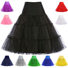 Women Vintage Retro Swing 50s 60s Pinup Evening Party Dance Petticoat Dresses