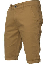 MENS BRAND NEW SHORTS CHINO STRETCH SLIM FIT IN GREY BLACK NAVY TAN COLOURS