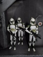 STAR WARS LOOSE THE CLONE WARS LOT OF 3 ANTI HAILFIRE CLONE TROOPERS