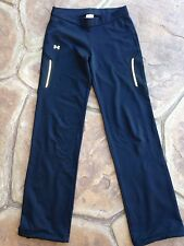 GUC Black Under Armour Cold Gear Warm Up Track Pants Small S