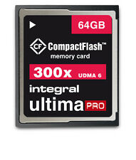 Integral 64GB 300x High Speed UDMA 6 Ultima Pro Compact Flash Card [INCF64G300W]