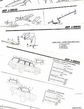 1960'S JEEP J SERIES PANEL PICKUP MODELS ORIGINAL MOTOR'S CRASH SHEETS M5 4PAGES