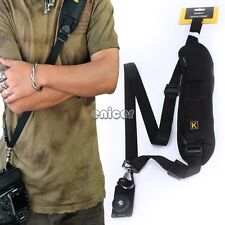 Quick Rapid Camera Single Shoulder Sling Black Belt Strap for SLR DSLR LF