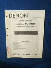 DENON TU-380RD TUNER SERVICE MANUAL ORIGINAL FACTORY ISSUE GOOD CONDITION
