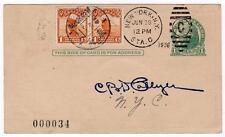 Round the World Flight Mears and Collyer cancelled NY, China, NY Jun-Jul 1928