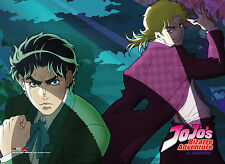 *NEW* JoJo's Bizarre Adventure: Jonathan & Dio Suits Fabric Poster by GE