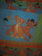 VINTAGE DISNEY Lion King TWIN FITTED BED Sheet Nala & Simba PILLOW CASE 2 PIECE