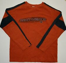 Mens M Harley-Davidson Cotton/Poly Sweater Made in  USA Northern Lights HD Wi