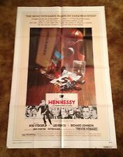 HENNESSEY Rod Steiger Lee Remick ORIGINAL 1975 ONE SHEET MOVIE POSTER