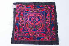 Red Bird Hmong Embroidered Fabric Hill Tribe Ethnic Fashion Style Thailand