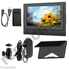 "Lilliput 7"" 5D-II/O/P HDMI In & Out PEAKING Monitor Canon 5D2+cable+shoe stand"