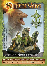 Sphere Wars Pack of Mongoose Boy Adepts of Malesur Malesur metal miniature new