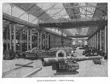 PARIS EXPOSITION UNIVERSELLE WORLD FAIR 1889 USINES DE SAINT-CHAMOND GRAVURE