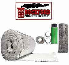 """Chimney Liner Insulation Kit - fits 7""""-8"""" x 20'-25' Liners - Insulation Blanket"""