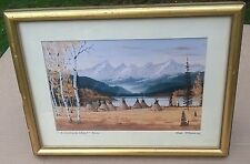 Birch Cove Camp by Bob Monroe Limited Edition #8 of 200 Framed Western Art Print