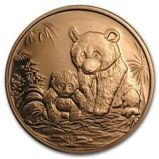 Cuivre Médaille Panda 1 once - 1 Oz copper Chinese Panda