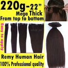 220G 20 22 inch Human Hair Extensions Clip In Full Head 1PC 8PCS 12 PCS AU AAAAA