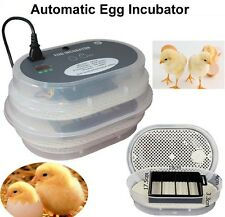 Automatic chicken 12 egg incubator home duck quail goose incubator +candler gift