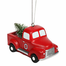 Ohio State Buckeyes NCAA Holiday Christmas Ornament Truck With Tree