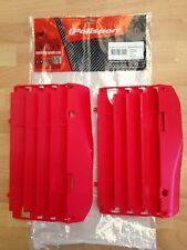 HONDA CRF250 R CRF250 R 2010-2013 POLISPORT RADIATOR LOUVRES RAD GUARDS  RED