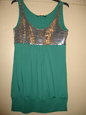 Brand new green top with sequins