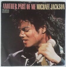 "Michael Jackson Another Part Of Me Single 7"" España promo one sided yellow label"