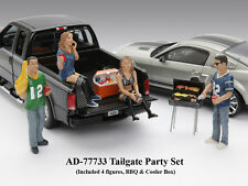 TAILGATE PARTY 4PC FIGURE SET FOR 1:18 SCALE MODELS BY AMERICAN DIORAMA 77733