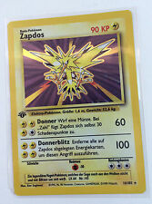 German Zapdos First 1st Edition Base Set 16/102 Pokemon Card NM+
