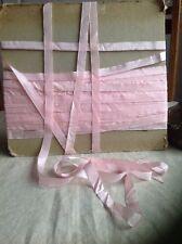Vintage Pink Satin Tape Fine French Grosgrain Ribbon Ballet Millinery Dolls 5m