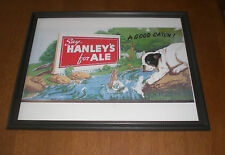HANLEY'S ALE FRAMED COLOR AD PRINT