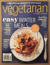 Vegetarian Times Easy Winter Meals Healthy Comfort Food March 2015 FREE SHIPPING