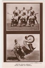 Royal Tournament Motor Cycle Display, Royal Corps of Signals RP Postcard, B608