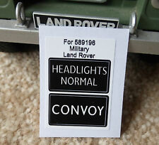 Land Rover Series Military IR Lightweight Convoy Light Switch Decal 589196