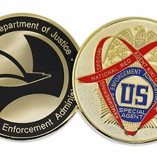 DEA DRUG ENFORCEMENT AGENCY CHALLENGE COIN SPECIAL EDITION RED RIBBON WEEK RARE!