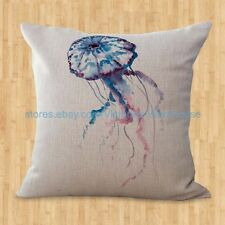 US SELLER- Sea life marine jellyfish ocean animal cushion cover decorate pillows