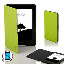 De Cuero Verde Smart Origami Funda Para Amazon Kindle Voyage + Screen Prot & Stylus