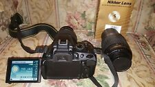 Nikon D D5100 16.2MP Digital SLR Camera - Black (Kit w/ AF-S DX VR G 18-55mm an…