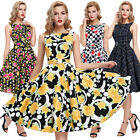 Classic 1950s 1960s Vintage Style Swing Pinup Full Circle Prom Dresses Size S-XL