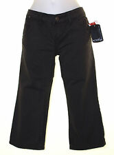 "Bnwt Womens Oakley Denim 3/4 Cropped Capri Jeans Slim Fit UK12 W30"" Black"