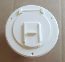 "POLAR WHITE Electric Power Cord Small Round Cable Hatch 3"" Cutout RV Motorhome"