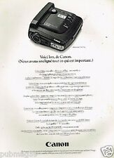 Publicité advertising 1991 Appareil photo Canon Ion