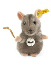 STEIFF Piff Mouse Plush soft toy teddy child gift 10cm Grey EAN 056222 New