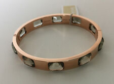 Michael Kors MKJ5010791 Rose-Gold Tone Cut Gray Crystals Bangle Bracelet $145